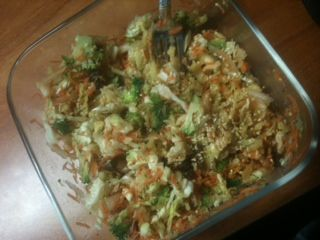 Chelle's Cole Slaw with Broccoli and Raisins - Vegan