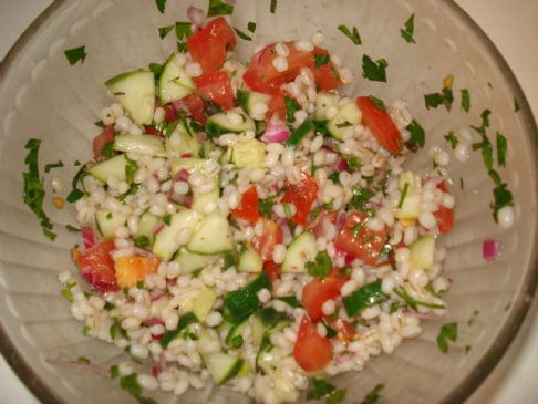 Tabbouleh with Tomatoes and Cucumber