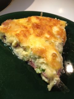 Ham and Cheese Quiche, low carb