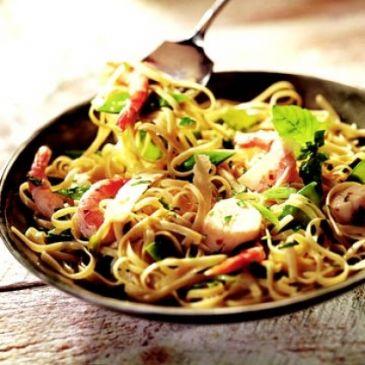 Scallops & Shrimp with Linguine