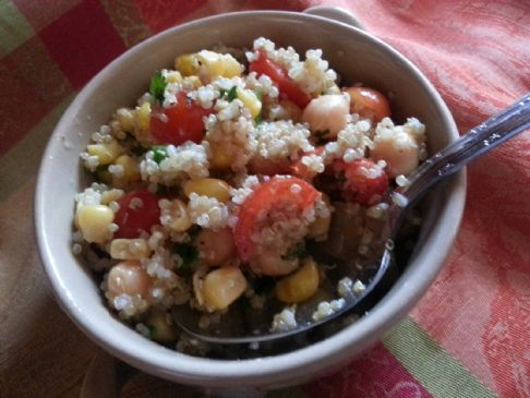 Quinoa Garbanzo Bean  Salad