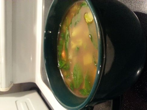 Vegetable Soup in Beef Broth