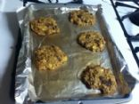 Banana Oat Cookies w/ raisins and almond butter