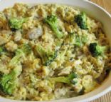 Chicken, Mushroom, Broccoli and Rice Casserole
