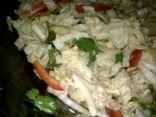 Napa Cabbage and Sunchoke Salad