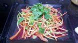 Almost raw Veggie Pasta in Spicy Thai Peanut Sauce