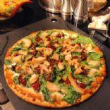 Rosemary Garlic Spinach & Chicken 5 Cheese Pizza
