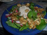 Spinach Garlic Mushroom and Tuna Salad
