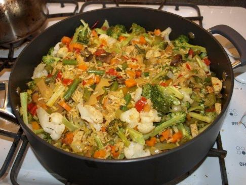 Vegetarian Paella with Chorzo 'Sausages'