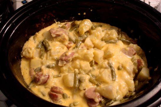 Grandma's Favorite Turkey Sausage Cheese Casserole (revised)