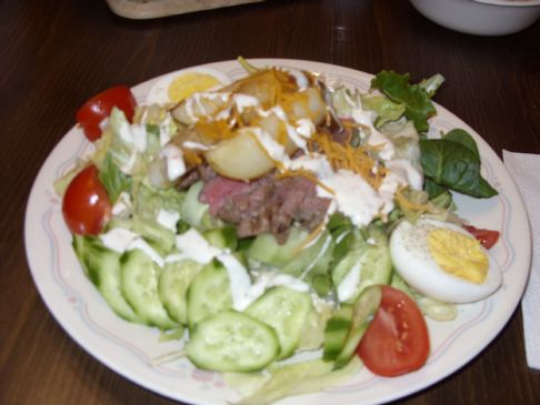 Pittsburgh Steak Salad Recipe Sparkrecipes