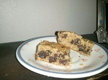 Flaxseed dark chocolate chip bars