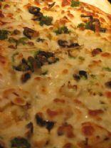 Onion, Black olives,  and Mushroom Pizza