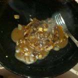Hamburger Steaks w/sauteed mushrooms & onions in brown gravy