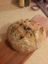 No-Knead Olive Bread