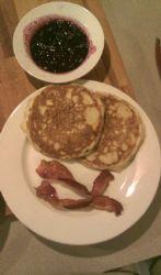 Sourdough Pancakes (1/2 C. batter cooked)