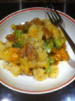 Gnocchis Casserole -Cheesy Broccoli & Hot Sausages