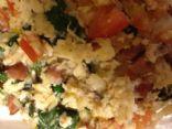 veggie breakfast meat scramble
