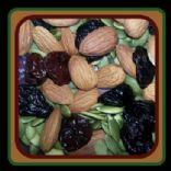 Almonds, pumpkin seeds, dried cherries snack