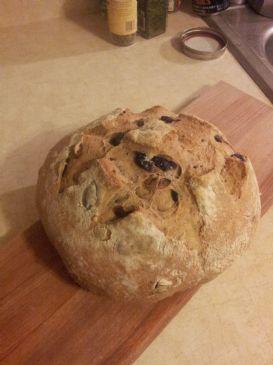 No-Knead Olive Bread
