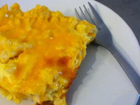 Keto -- Baked Mockaroni and Cheese