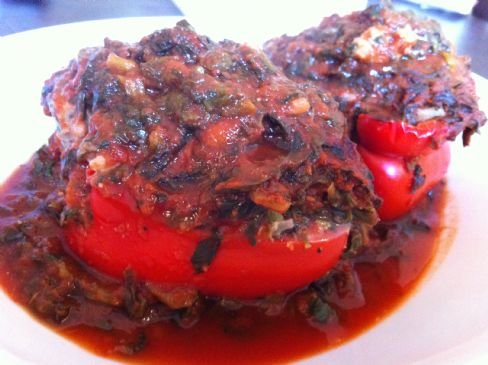 stuffed red pepper