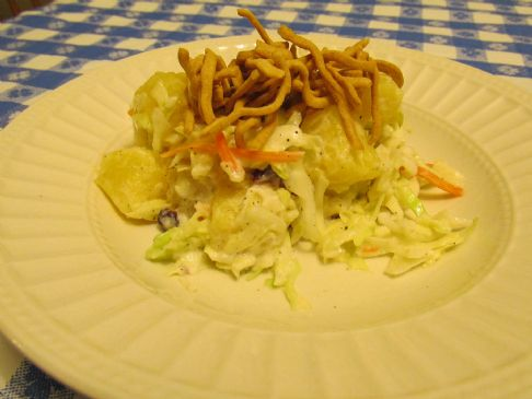 ASIAN COLESLAW WITH PINEAPPLE AND CRANBERRIES