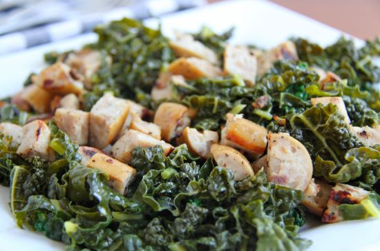 Sausage, Kale, Cabbage in Creamy White Sauce