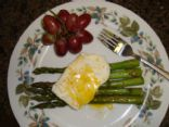 Asparagus, Fried Egg, and Parmesan