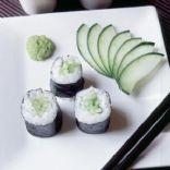 Cucumber Avocado Wasabi Sushi Roll