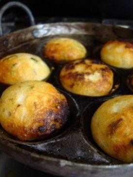 Indian Crepe Batter fritters (pongadalu)