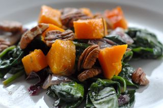 Roasted Butternut Squash With Spinach Recipe