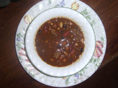 5 bean chilli