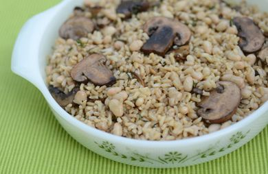 Herbed Brown Rice with Mushrooms