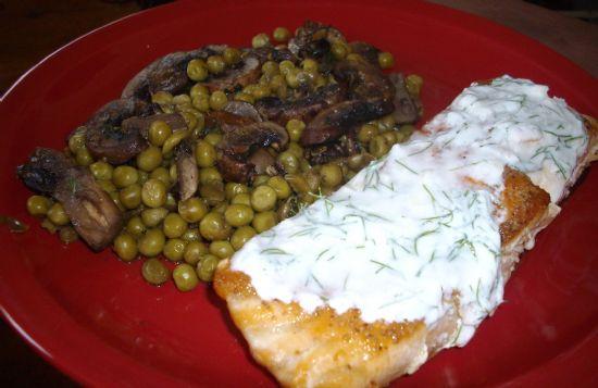 Fish,  'Shrooms & Peas