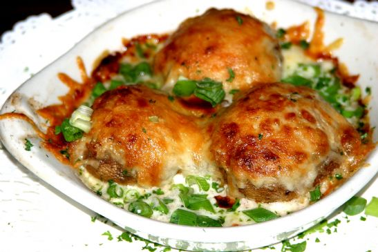 Stuffed Mushrooms with Crab