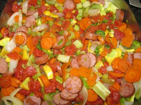 Smoked Turkey Sausage Vegetable Medley Recipe Sparkrecipes
