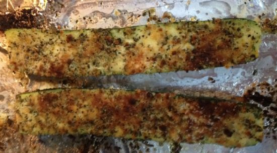 Oven Broiled Parmesan Zuchini CCH