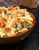 Spicy Creamy Chicken Veggie Pasta