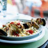 Mediterranean Chicken and Vegetable Kebabs