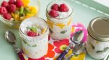 Stepped Chia Seeds Pudding (great for Breakfast or brunch. Enjoy and makes a great change from toasts or cereal! )