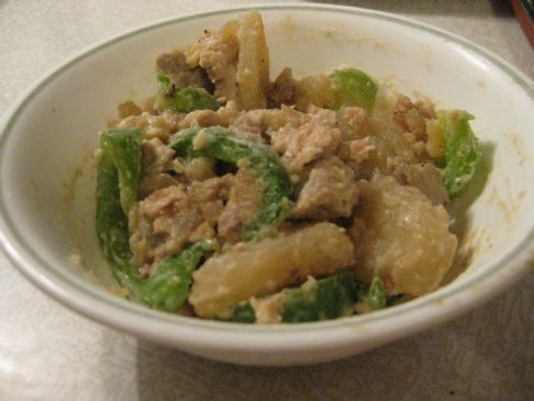 Turkey Potato Pepper Stirfry