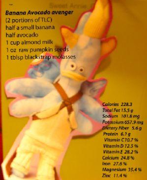 Banana avenger  with a Nutribullet