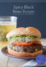 Vegan Spicy Black Bean Burgers