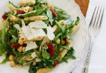 Arugula Pasta Salad with Garbanzo Beans and Sun Dried Tomatoes