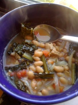 Rosemary Bean, Kale & Chicken Soup