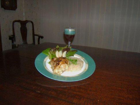 Glazed Coconut Chicken w-Wild Rice