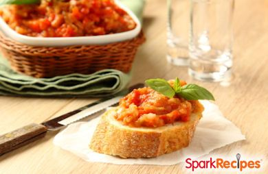 Easy Eggplant Bruschetta