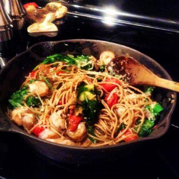 Shrimp & Veggie Parmesan
