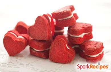 Heart-Shaped Red Velvet Whoopie Pies